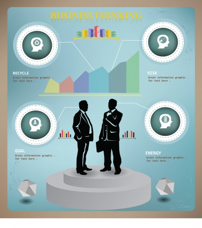 demography: Brain thinking,business concept,info graphics,vector