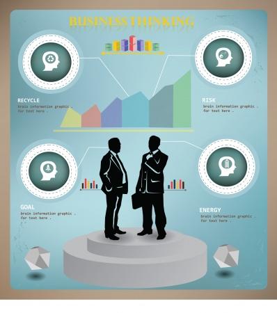 demografia: Pensamiento del cerebro, concepto de negocio, informaci�n gr�fica, vector