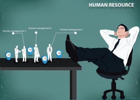 Business concept,human resource,management ,vector Stock Vector - 18625945