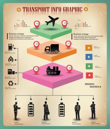 Transport, logistique, graphiques, vecteur d'information d'entreprise