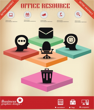 machine man: Office symbol,graphics design,vector  Illustration