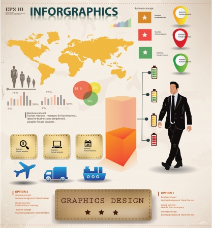 demografia: Empresas de diseño gráfico, gráficos, vector de información Vectores