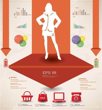 listeners: Woman,business and marketing concept,graphics design,vector  Illustration