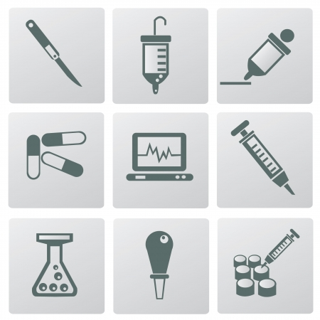 Medical icons,vector  Stock Vector - 18625775