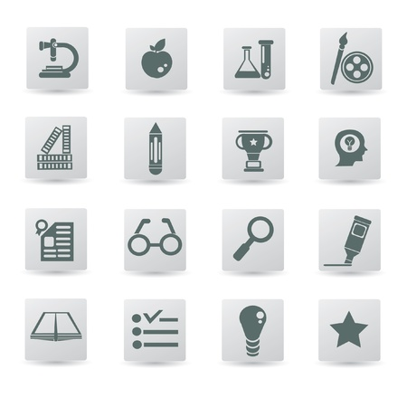 Education icon set,vector  Vector