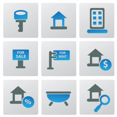 House icon set,vector Stock Vector - 18625778