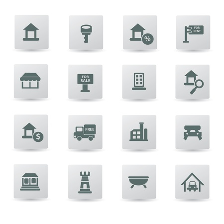 Building,house icon set,vector  Vector