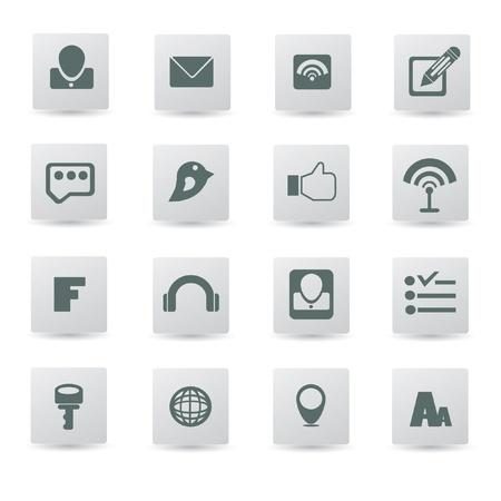 Web   internet icons,vector  Stock Vector - 18625773