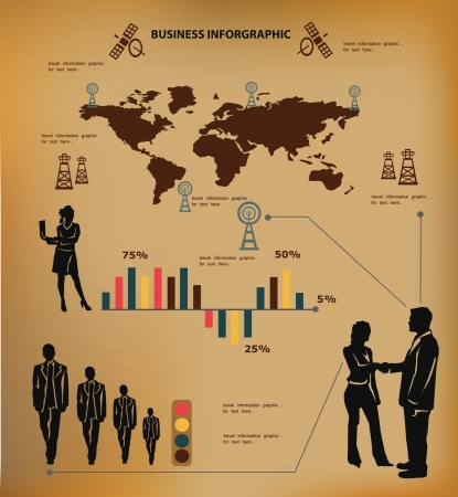 Business concept, and map of the world,inforgraphics ,vector Stock Vector - 18625964