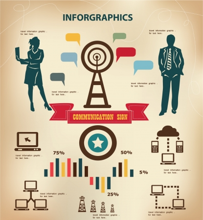 Technology concept and wireless,social inforgraphics,vector  Vector