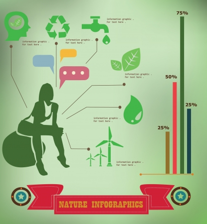 Natural information graphics,vintage,vector  Vector