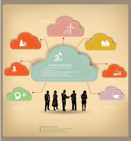 クライアント: 雲、管理、ビジネス コンセプト、ヴィンテージ