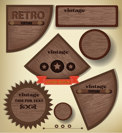 Label abstract,vintage,vector Vector