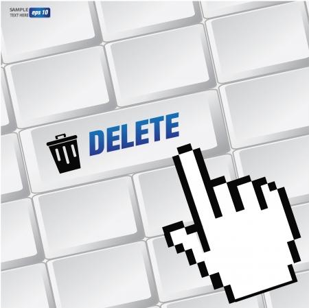 Delete symbol on keyboard,vector Stock Vector - 18625817