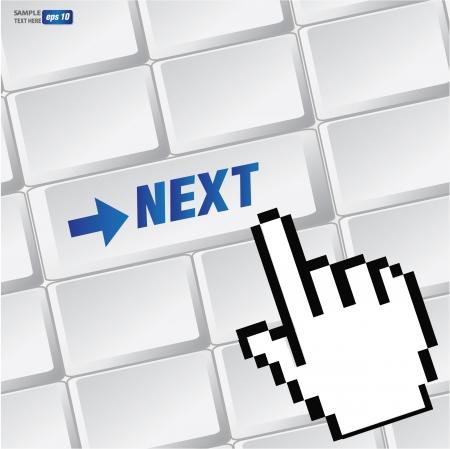 Next symbol on keyboard,vector  Stock Vector - 18616868
