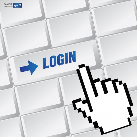 Log in symbol on keyboard,vector Stock Vector - 18616859