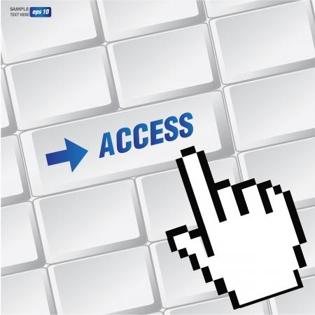 Access symbol on keyboard,vector  Vector