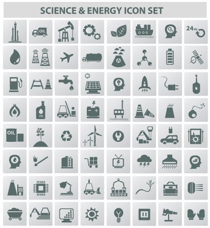 power grid: Industrial,energy,b uilding and natural icon set,vector  Illustration