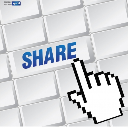 Share symbol on keyboard,vector Stock Vector - 18616885