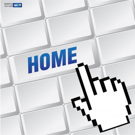 Home symbol on keyboard,vector Stock Vector - 18625833