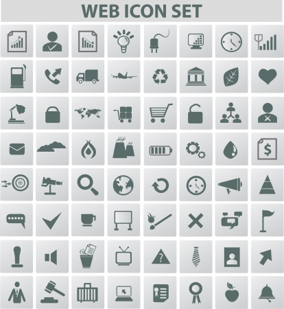 Web and media icon set,vector  Stock Vector - 18625877