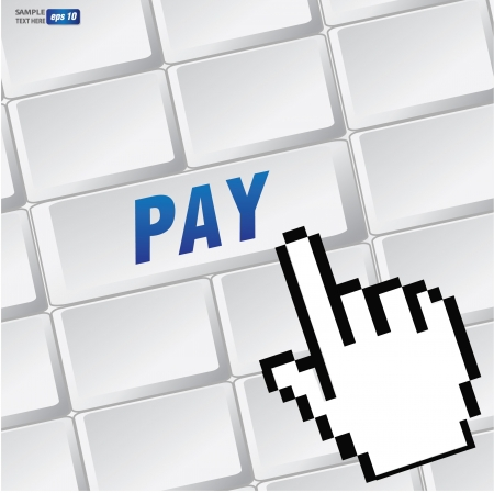 Pay symbol on keyboard,vector  Stock Vector - 18616865