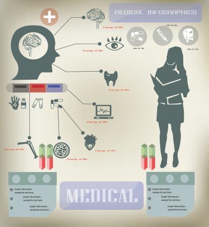 infektion: Medizinische Infografiken, Vektor Illustration