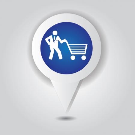 Shopping basket symbol,Vector Vector