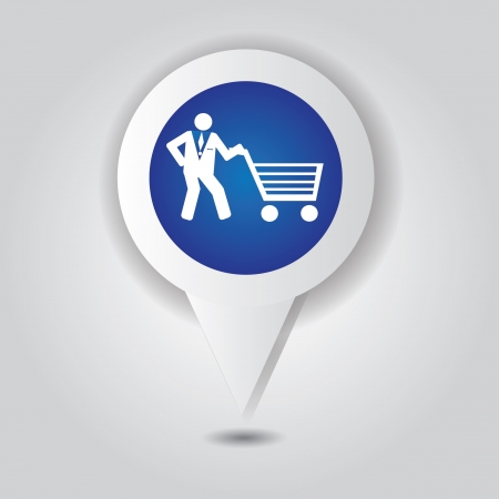 e store: Shopping basket symbol,Vector