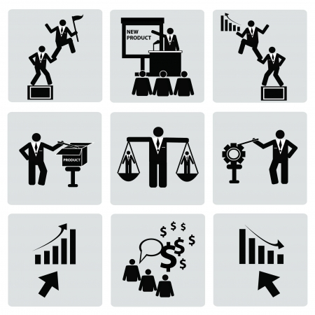 Business management and Human resource,organizati on,icon set,Vector  Stock Vector - 18824157