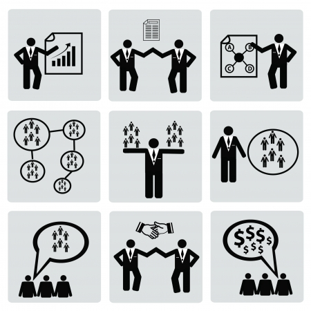 Management people,business concept,icons,Vector Vector