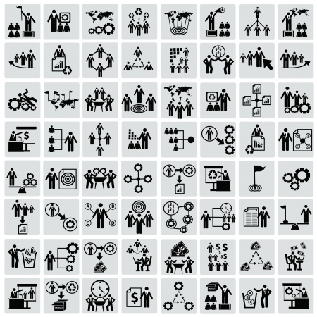 vector business icon: Business,Human resource,icon set,Vector Illustration