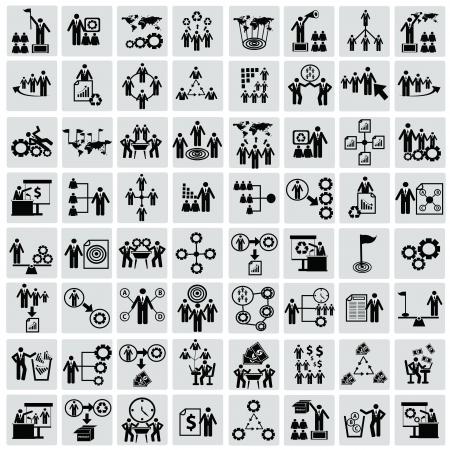 Entreprise, des ressources humaines, icon set, vecteur Vecteurs