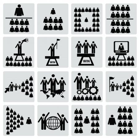 corporate hierarchy: Delle risorse umane, computer, mi con set, vettore