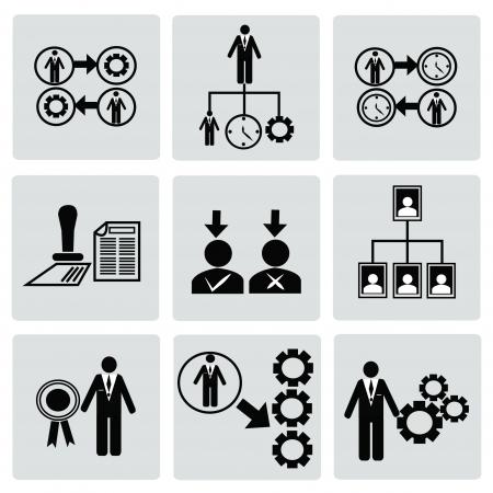 Business,Human resource,icon set,Vector Vector