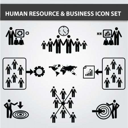 face with headset: Business,Human resource,icon set,Vector Illustration