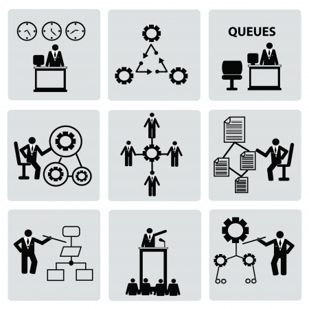 Human resource,icon set,Vector Stock Vector - 18824125