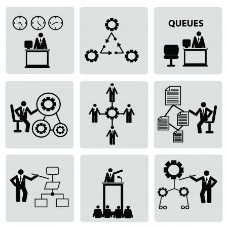 rewarding: Human resource,icon set,Vector