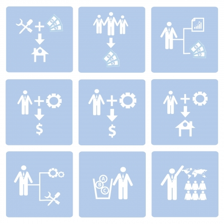 Human resource,icon set,Vector Stock Vector - 18824132
