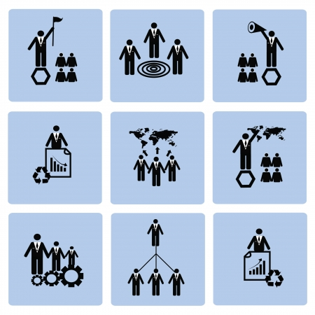 Human resource,icon set,Vector  Stock Vector - 18824107