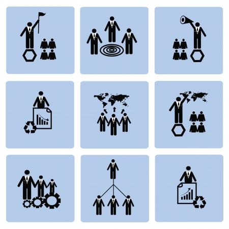 Human resource,icon set,Vector Stock Vector - 18824107