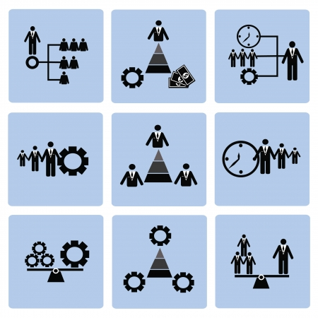 Human resource,icon set,Vector Stock Vector - 18824126