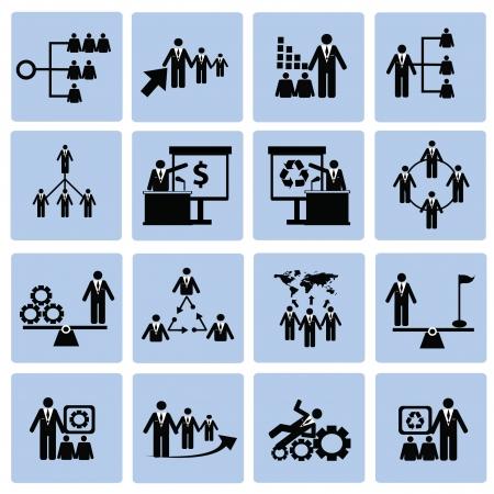 Human resource,icon set,Vector Stock Vector - 18824110