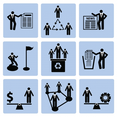 Human resource,icon set,Vector Stock Vector - 18824159