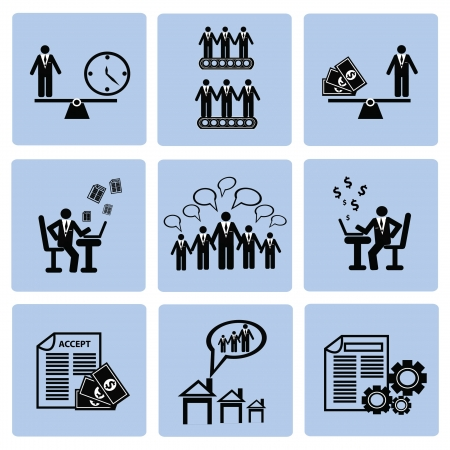 Business management and Human resource,icon set,Vector  Stock Vector - 18824135
