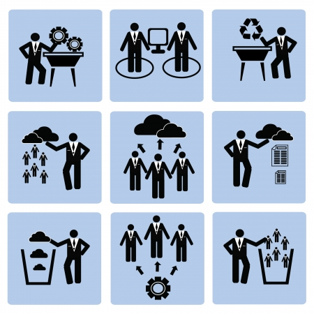 Business management and Human resource,icon set,Vector  Vector