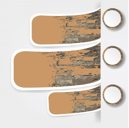 Wood banner for text,Vector  Vector