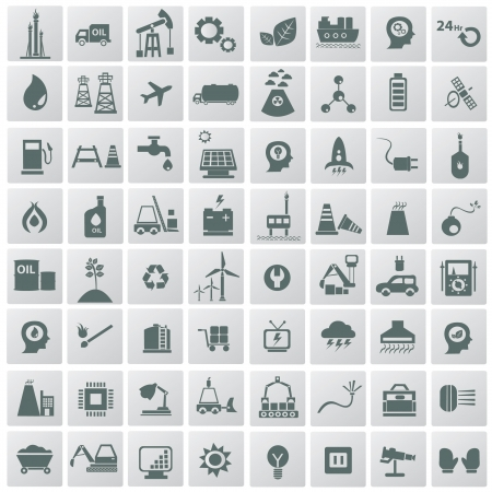 power grid: Energy   technology icons,vector