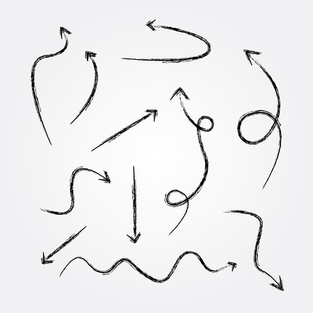 squiggle: Arrows drawing,vector