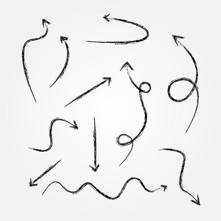 flecha derecha: Dibujo flechas, vector